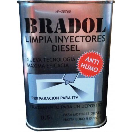 LIMPIA INYECTORES DIESEL BRADOL E/500 c.c.